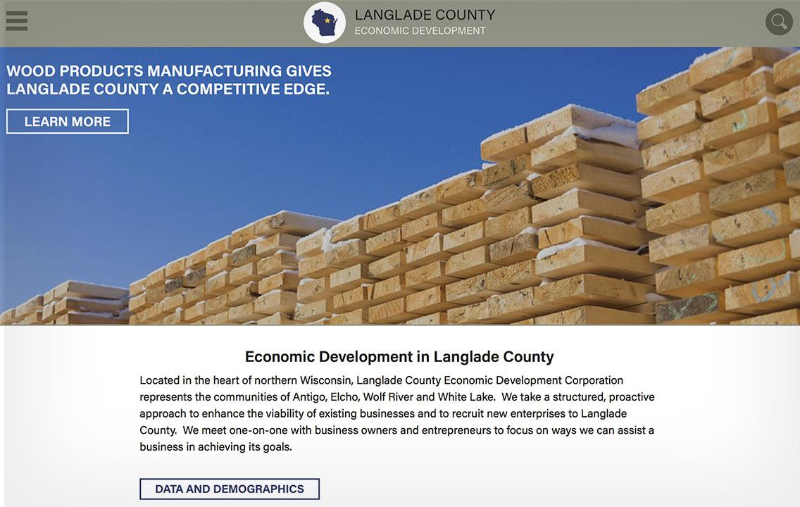 langlade county economic development corporation responsive web